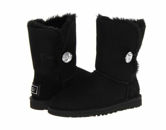Угги UGG Bailey Button Bling Black UBB5