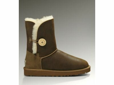 Угги UGG Bailey Button Bomber Chocolate UBB6